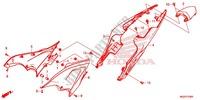 SIDE COVER/REAR COWL Frame 500 honda-motorcycle CB 2014 F_24