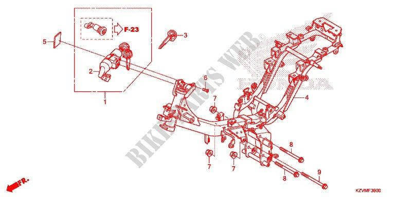 Frame For Honda Dream 110 Ex5 Electric Start  Fuel