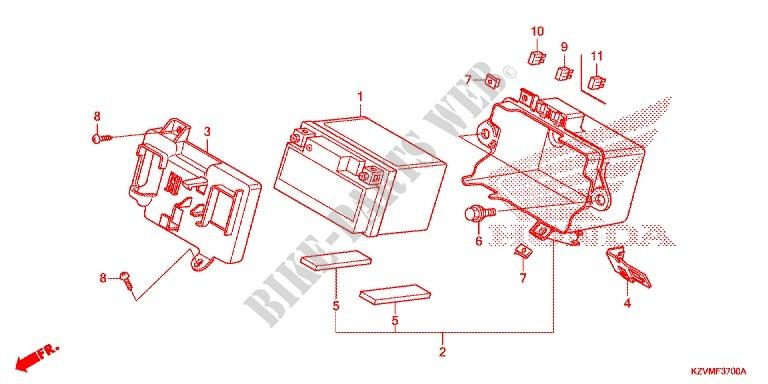 Tools Battery Box For Honda Dream 110 Ex5 Electric Start