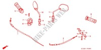 HANDLE LEVER/SWITCH/CABLE /MIRROR Frame 125 honda-motorcycle WAVE 2007 F_03