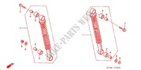 REAR SHOCK ABSORBER (2) for Honda WAVE 125 NEXT GENERATION 2007