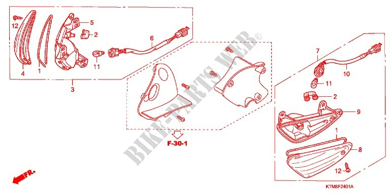 FRONT INDICATOR (2) for Honda WAVE 125 NEXT GENERATION 2007