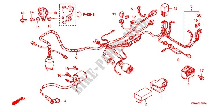 WIRE HARNESS (2) for Honda WAVE 125 NEXT GENERATION 2007